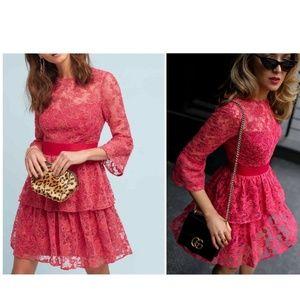 ML Monique Lhuillier Embellished Rose Dress $495